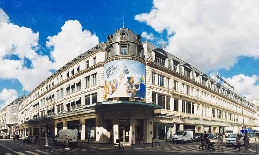 My perfect day paris stylish morning stroll to le bon march the dressed fork - Le bon marche luminaires ...